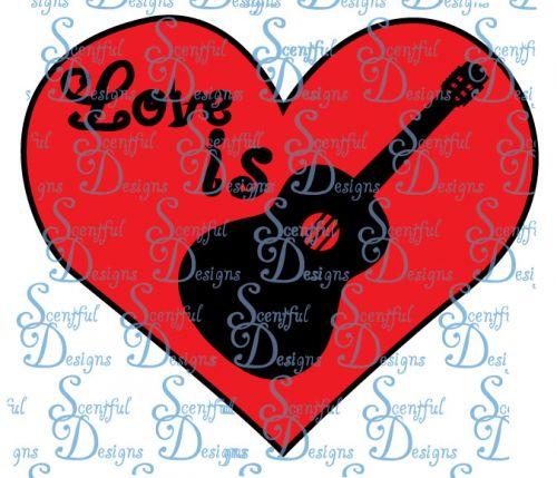 Love is.. Guitar/heart